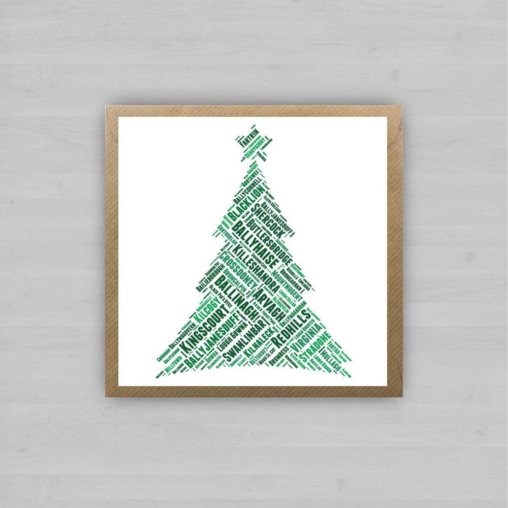 Cavan Christmas Tree by homebird.ie | Irish Christmas Cards
