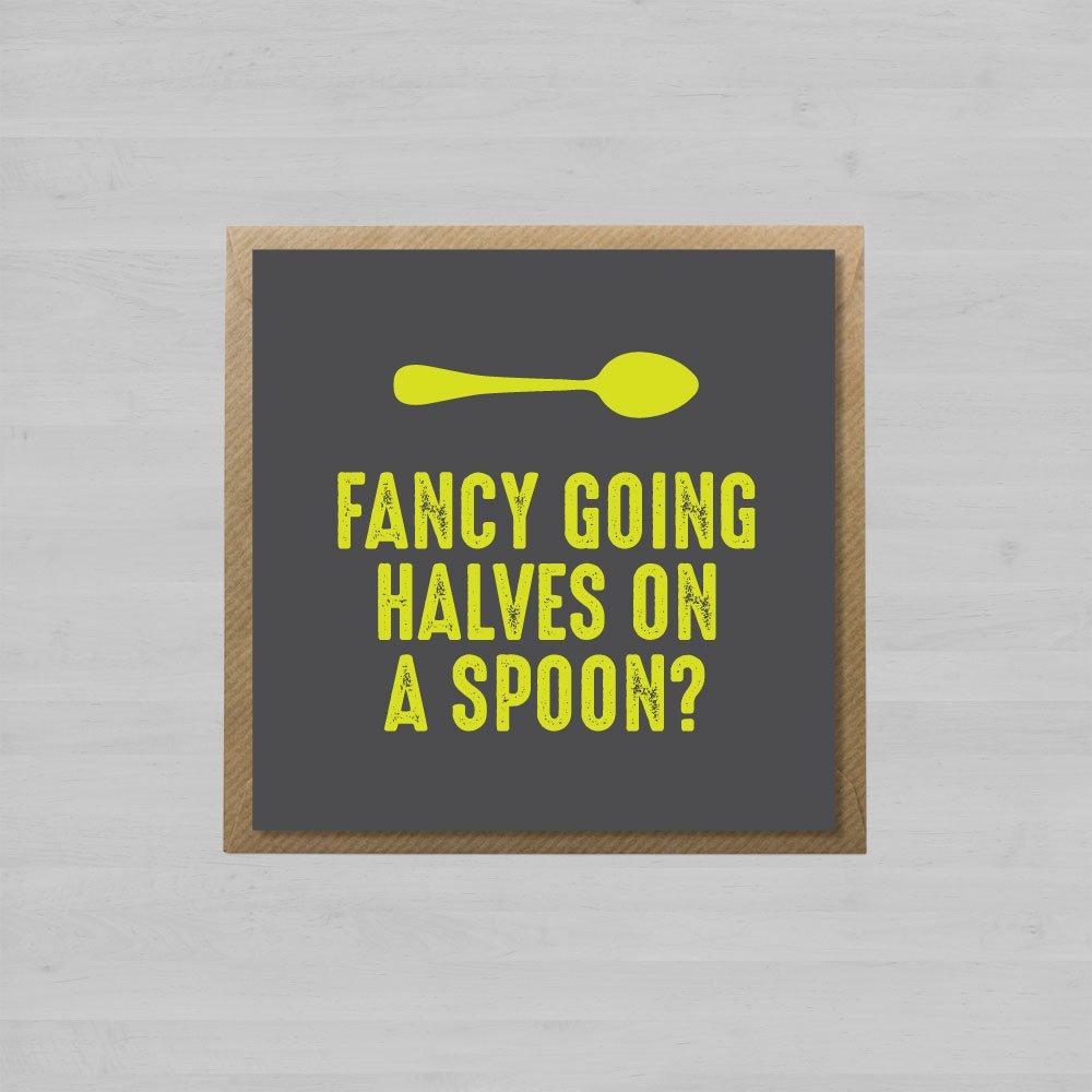 Fancy Going Halves on a Spoon? + Envelope