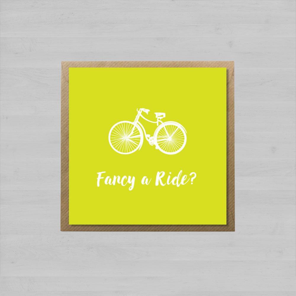 Fancy a Ride? + Envelope
