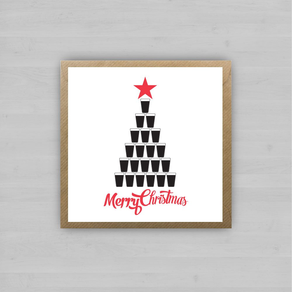 Guinness Christmas Tree | Irish Christmas Cards by homebird.ie