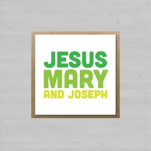 Jesus Mary And Joseph + Envelope