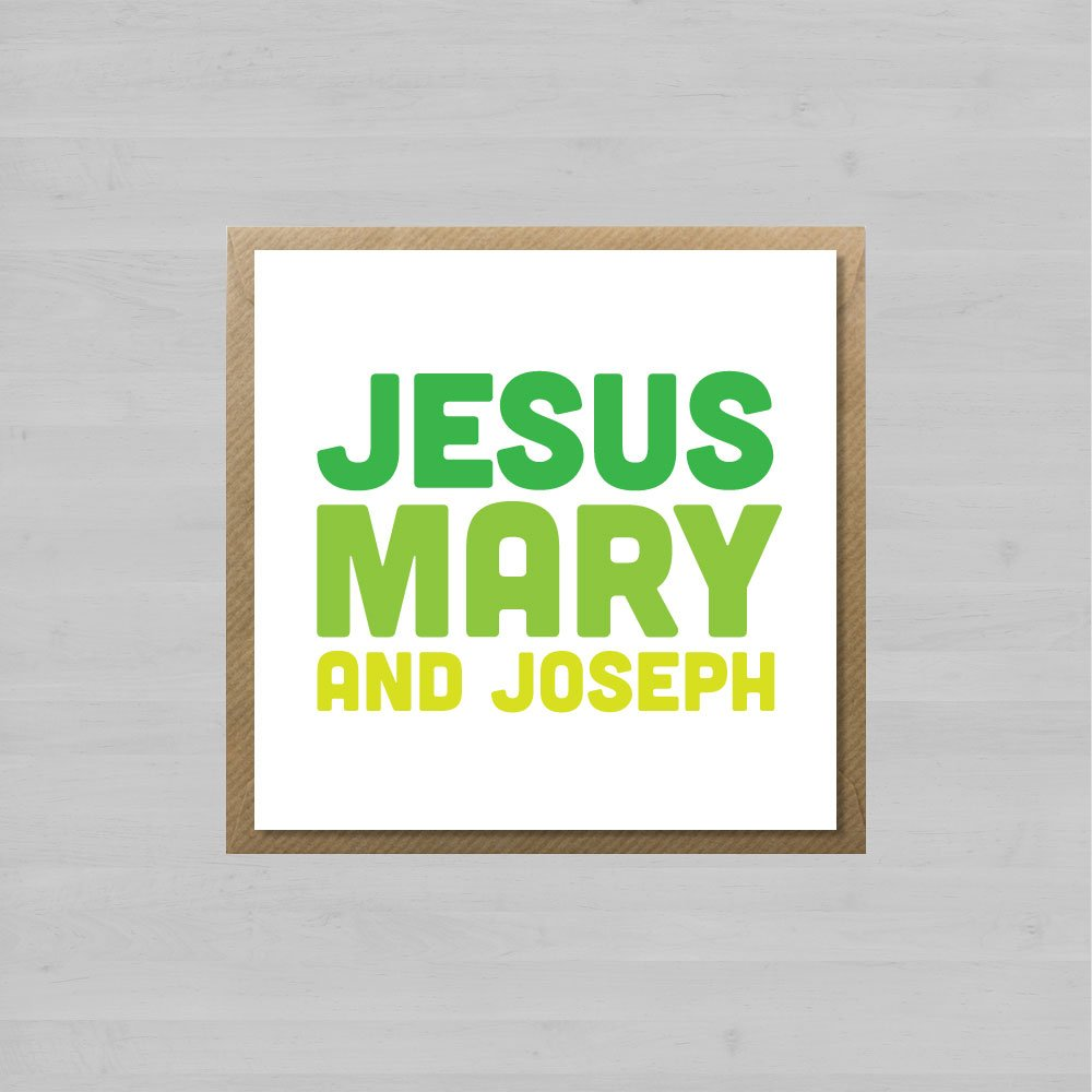 Jesus Mary And Joseph + Envelope