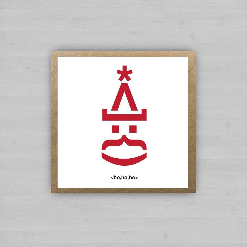 Santa Emoji | Irish Christmas Cards by homebird.ie