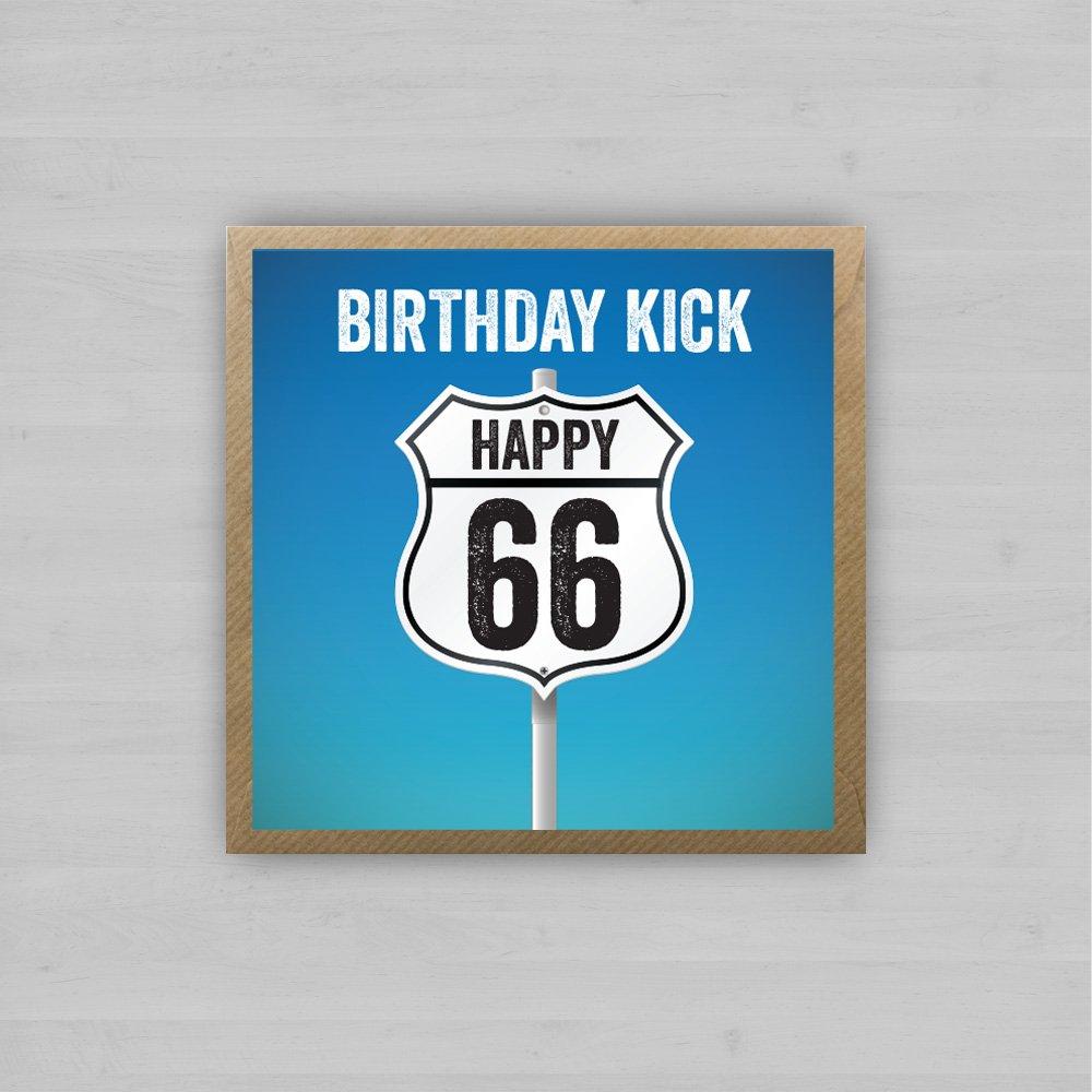 Birthday Kick Happy 66 + Envelope