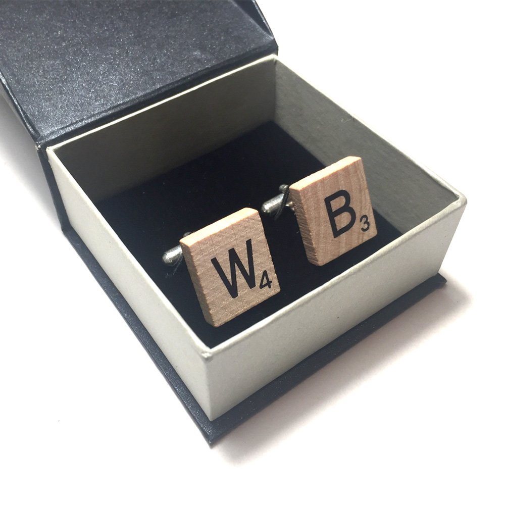 Scrabble Cufflinks Box