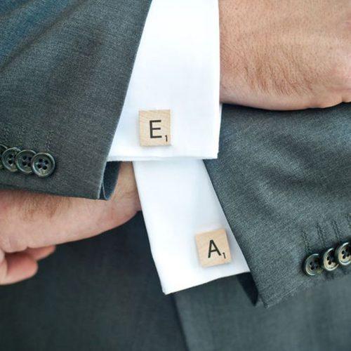 Scrabble Cufflinks Shirt