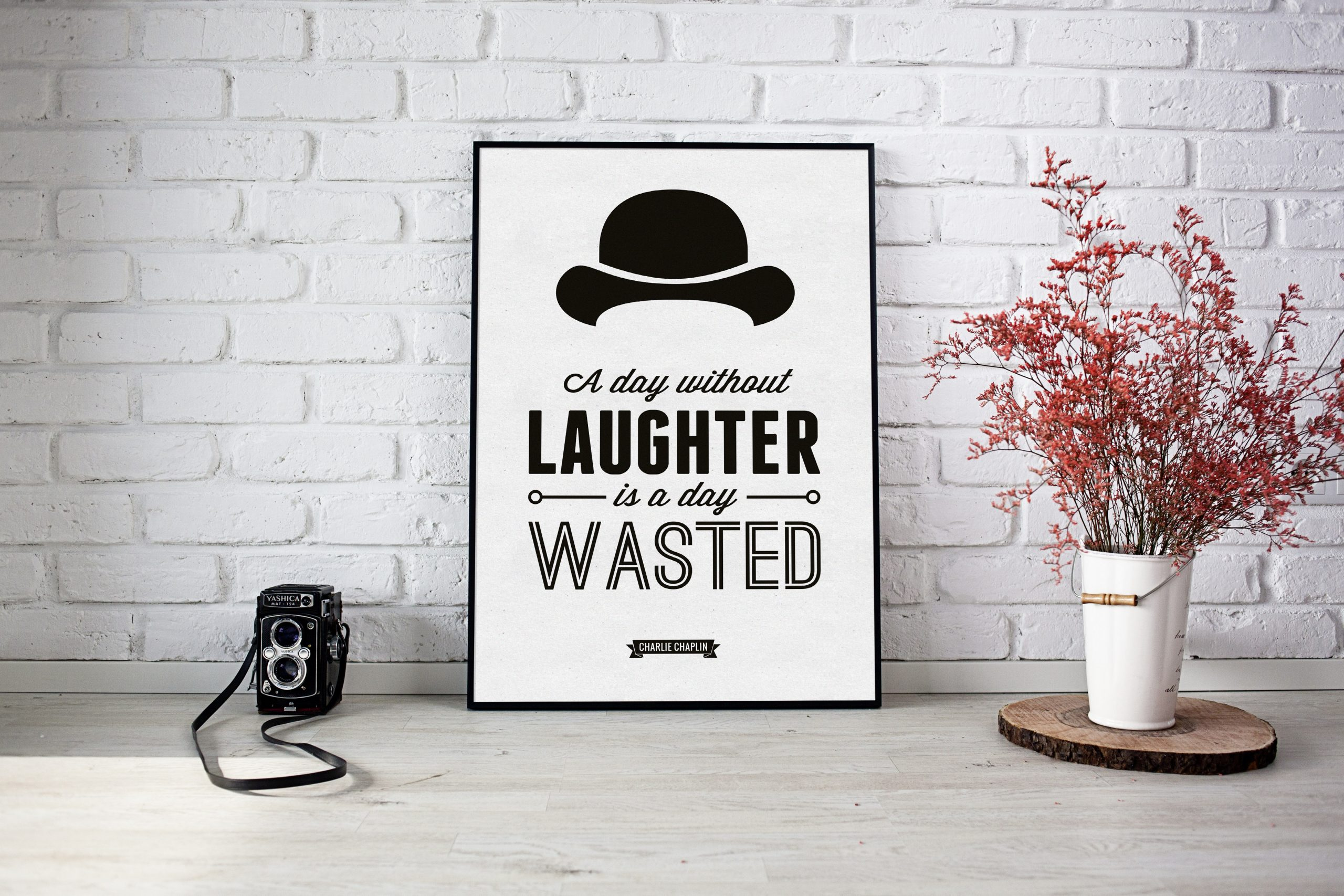 A day without laughter | Homebird | Irish Wall Art | Quotations
