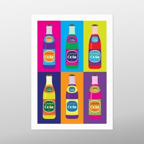 Cavan Cola Bottles – Warhol 8 | Homebird | Irish Artwork