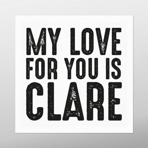 My Love for You is Clare | Homebird | Irish Art & Prints